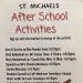 After School Activities Start Soon!